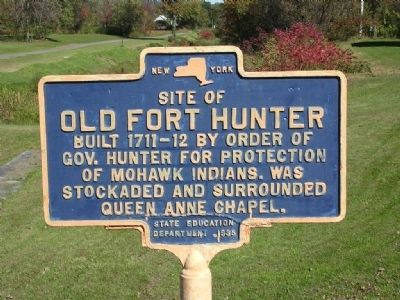 Site of Old Fort Hunter Marker image. Click for full size.