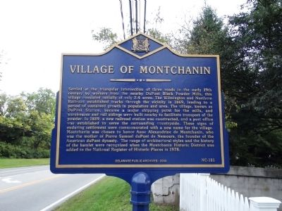 Village of Montchanin Marker image. Click for full size.