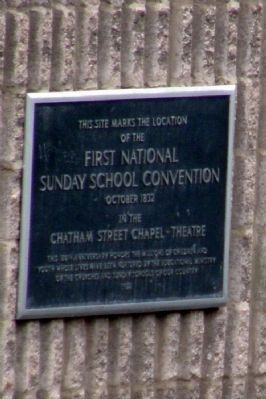 First National Sunday School Convention Marker image. Click for full size.