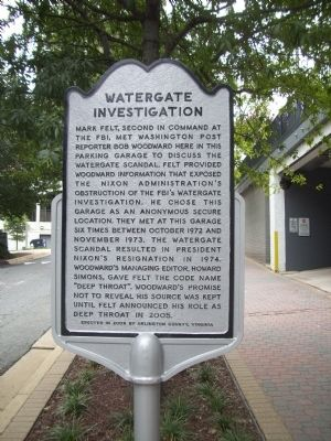 Watergate Investigation Marker image. Click for full size.