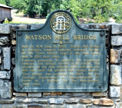 Watson Mill Bridge Marker image. Click for full size.