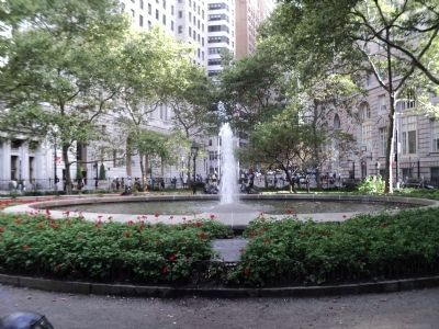 Bowling Green Fountain image. Click for full size.