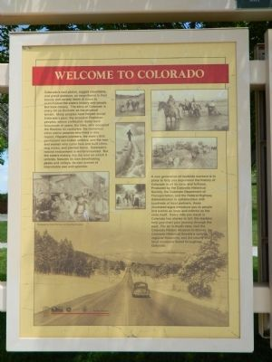 Welcome to Colorado Marker image. Click for full size.