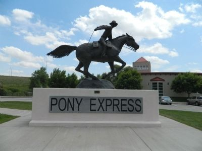 The Pony Express Trail Statue image. Click for full size.