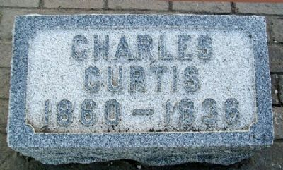 Charles Curtis Grave Marker image. Click for full size.