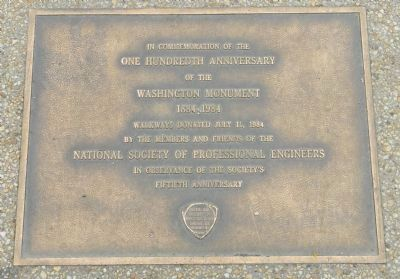 Washington Monument Marker image. Click for full size.