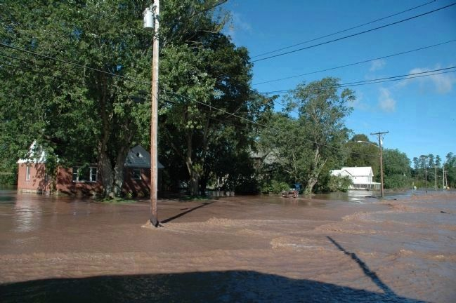 Flooding on Main Street in Fort Hunter after Hurricane Irene image. Click for full size.