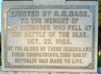 Battle of the Blue Monument image. Click for full size.