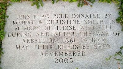 2005 Flag Pole Marker to Honor Civil War Soldiers image. Click for full size.