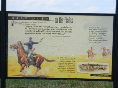 Hard Duty on the Plains Marker image. Click for full size.