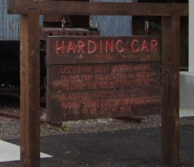 Harding Car Marker image. Click for full size.