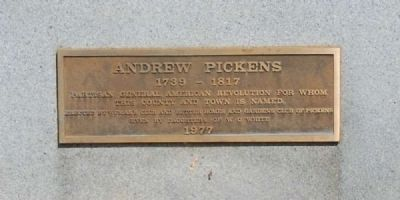 Andrew Pickens Marker image. Click for full size.