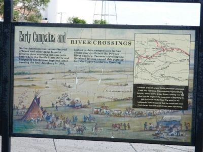 Early Campsites and River Crossings Marker image. Click for full size.