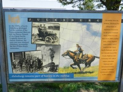 Fourth Julesburg Marker image. Click for full size.