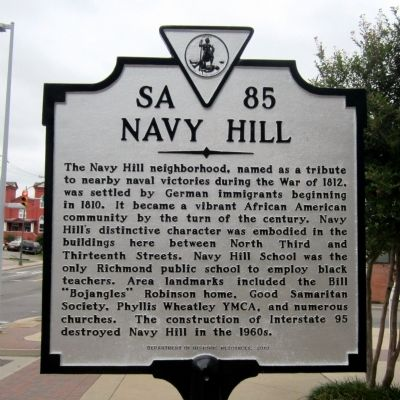 Navy Hill Marker image. Click for full size.