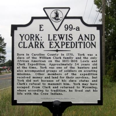 York: Lewis and Clark Expedition Marker image. Click for full size.
