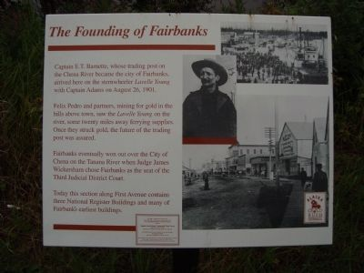 The Founding of Fairbanks Marker image. Click for full size.