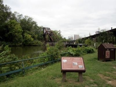 28th St Draw Bridge / Great Shiplock Canal Marker image. Click for full size.