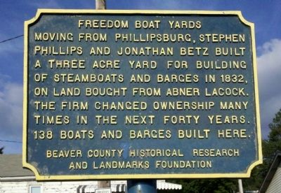 Freedom Boat Yards Marker image. Click for full size.
