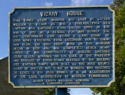 Vicary House Marker image. Click for full size.