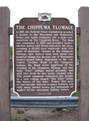The Chippewa Flowage Marker image. Click for full size.
