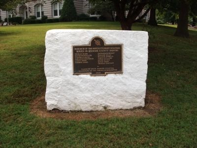Wide View - - Revolutionary War Honor Roll - Spencer County Marker image. Click for full size.