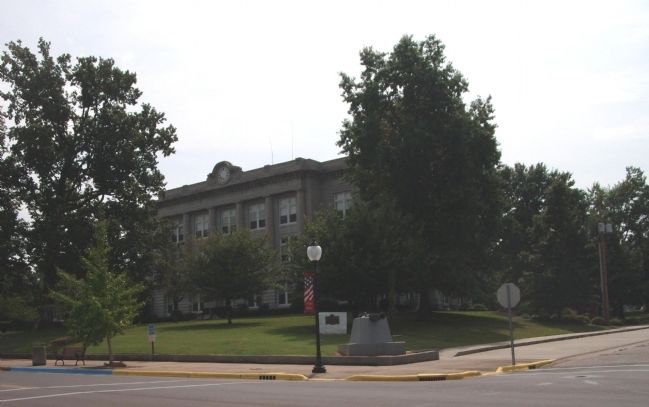 North/West Corner - - Spencer County Courthouse - - Rockport, Indiana image. Click for full size.
