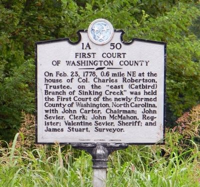 First Court of Washington County Marker image. Click for full size.
