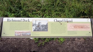 Richmond Dock / Chapel Island Marker image. Click for full size.