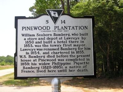 Pinewood Plantation Marker Reverse image. Click for full size.