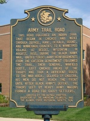 Army Trail Road Marker image. Click for full size.