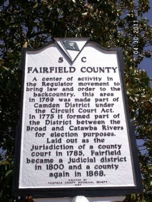 Fairfield County Marker image. Click for full size.
