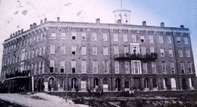 Photo on The Patee House In The Civil War Marker image. Click for full size.