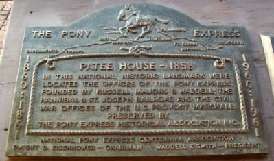 Patee House - 1858 Marker image. Click for full size.