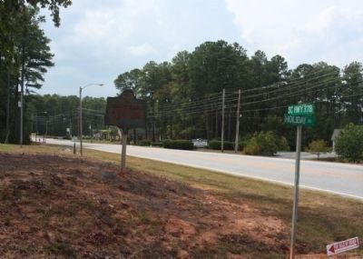 Samuel Calhoun Edmunds Marker, looking west along US 378 and Holiday Road image. Click for full size.