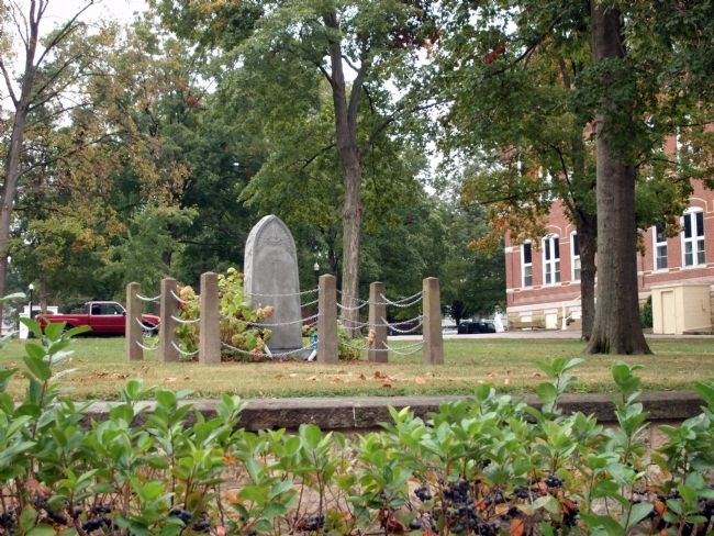 Looking East - - Perry County Indiana Honor Roll Memorial Marker image. Click for full size.