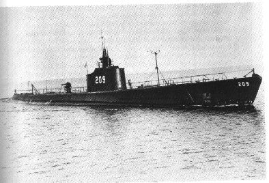 USS Grayling (SS-209) image. Click for full size.