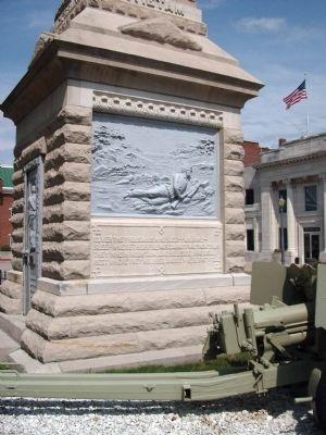 Left Panel - - Dubois County Civil War Memorial Marker image. Click for full size.