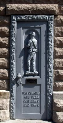 Obverse - Door - - Dubois County Civil War Memorial Marker image. Click for full size.