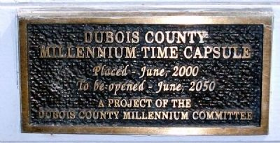 Door Plaque - - Dubois County Civil War Memorial Marker image. Click for full size.