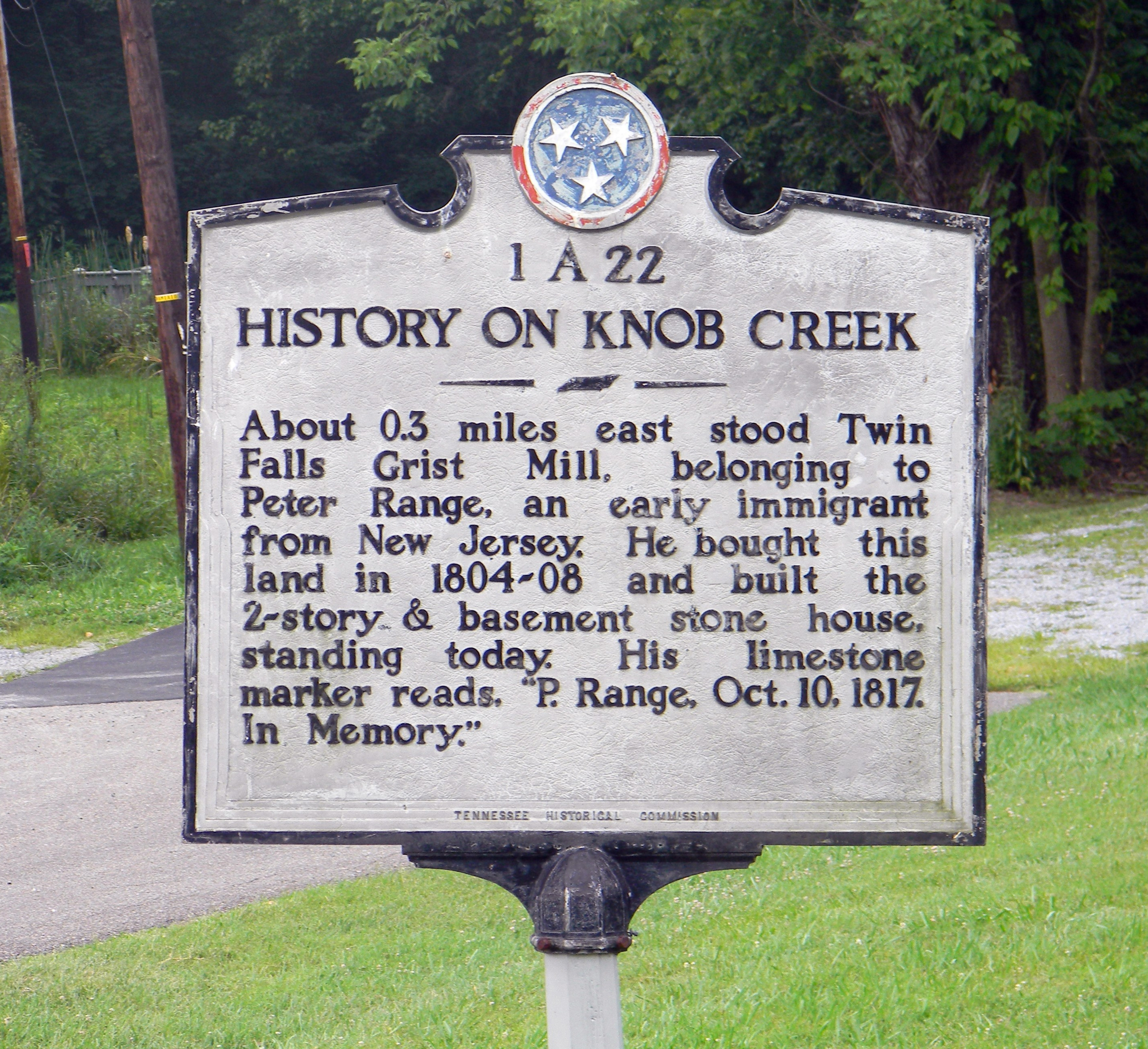 History on Knob Creek Marker