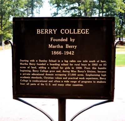 Berry College Marker image. Click for full size.