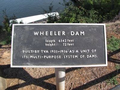 Wheeler Dam - adjacent marker image. Click for full size.