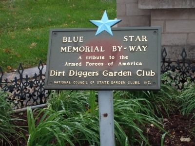 "Plaque - - ""Tribute to Armed Forces"" - - Dirt Diggers Garden Club image. Click for full size."
