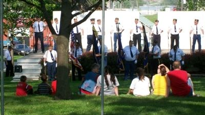Memorial Day Service at Veterans Memorial image. Click for full size.