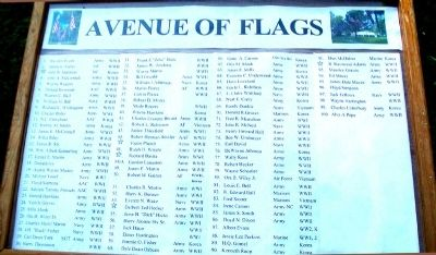 Avenue of Flags Honor Roll image. Click for full size.