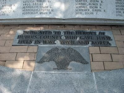 Below - Large 'Book' - - Dubois County Honor Roll Memorial Marker image. Click for full size.