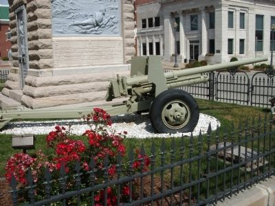 South - Fieldpiece - - at Civil War Memorial image. Click for full size.