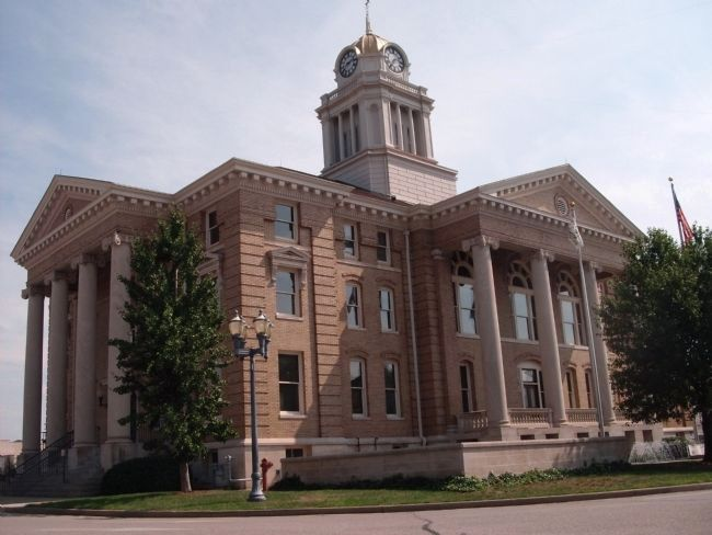 North/West Corner - - Dubois County Courthouse - - Jasper, Indiana image. Click for full size.