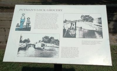Putman's Lock Grocery Marker image. Click for full size.